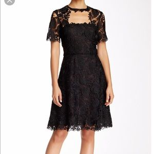 MIKAEL AGHAL NWT black Floral crochet dress